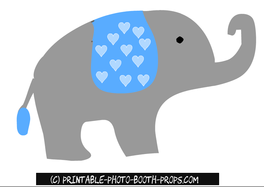 free printable boy baby shower photo booth props cute elephant clipart cute elephant clipart